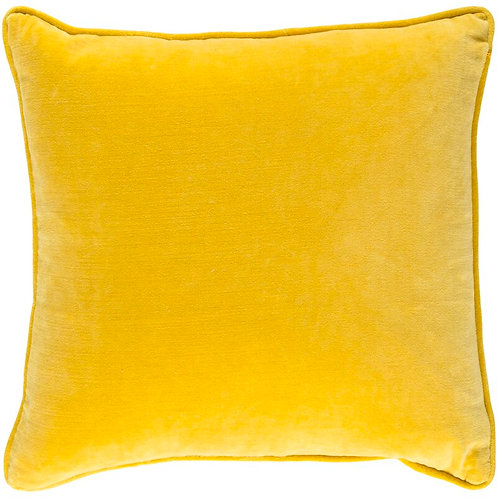 Yellow Velvet Solid Cushion Cover