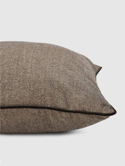 Brown Herringbone Cushion Cover