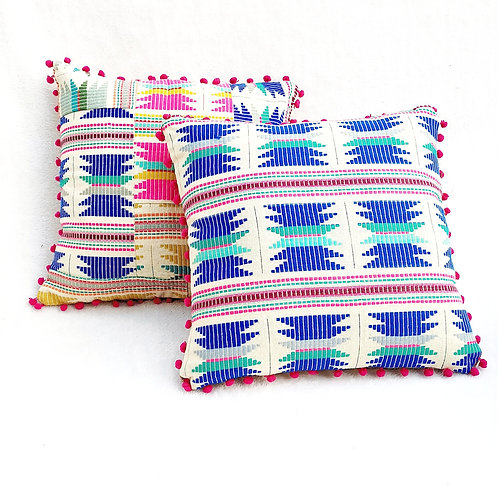 Multicolored Threadwork Cushion Covers