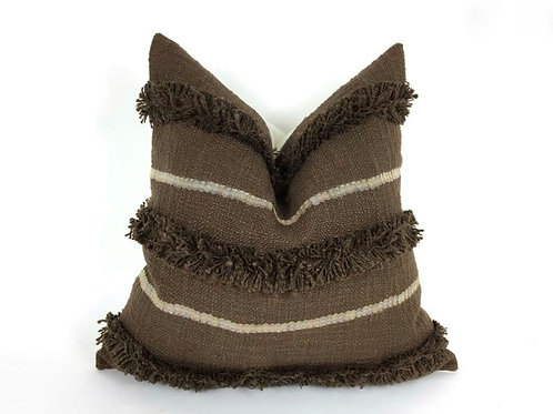 Choco Fringe & Sequence Cushion
