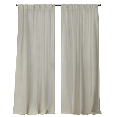 Neutral  Cotton Textured Curtains - Set of 2