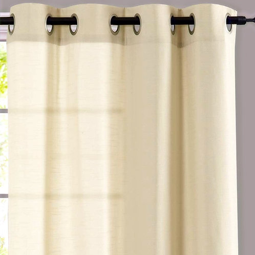 Cotton Self Textured Solid Curtains