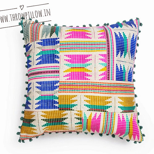 Multicolored Patterned Cushion