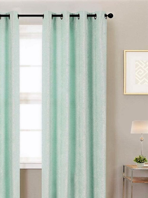 Luxe Blue Chenille Solid Curtains