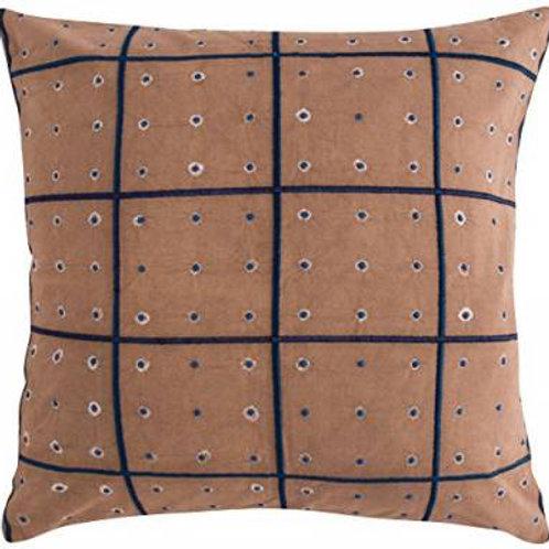 Earth brown Shibori Cushion Cover