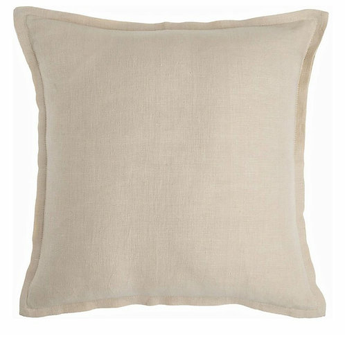Neutral Oxford Stich Solid Linen Cushion Cover