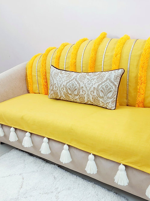 Tuscany Moroccan Tufted Tassel Couch Cover Set