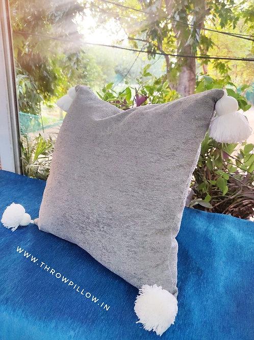 Teddy Soft Grey Hug Cushion Cover