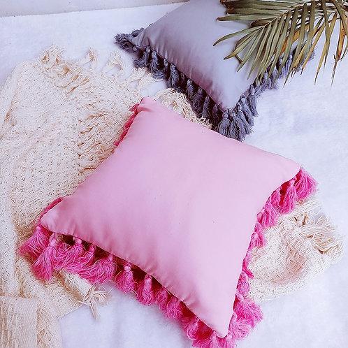 All round tassel cushions
