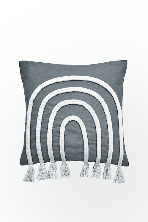 Grey Braided Arch Cushion