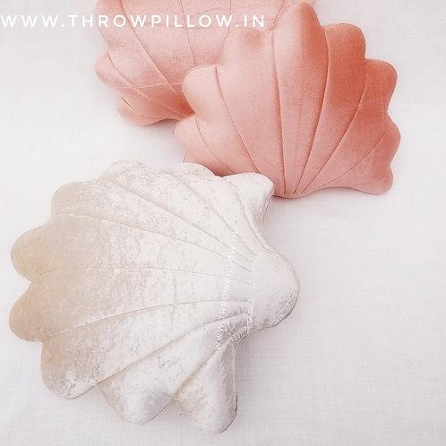 Seashell Cushion with filler- Blush Shade