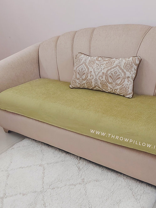 Luxe Solid Couch Cover- Green