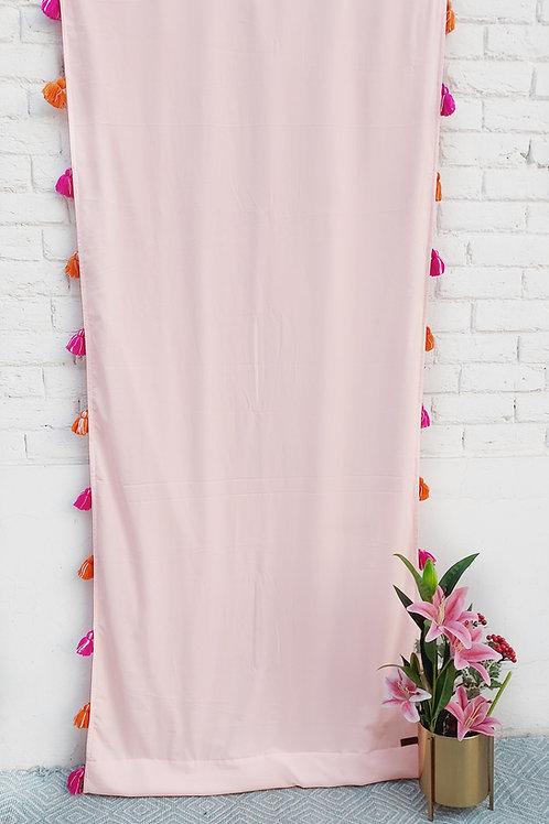 Blush Tassel Curtain