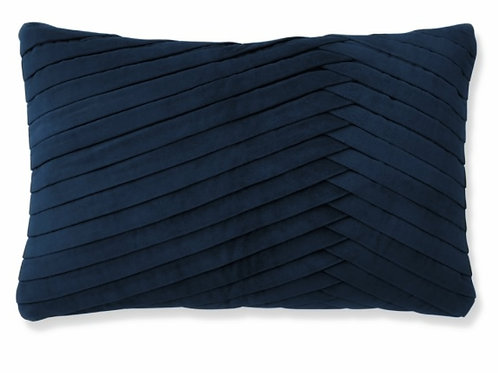 Luxe Navy Blue Pleated Cushion Cover