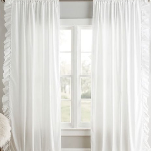 White Frill Curtains