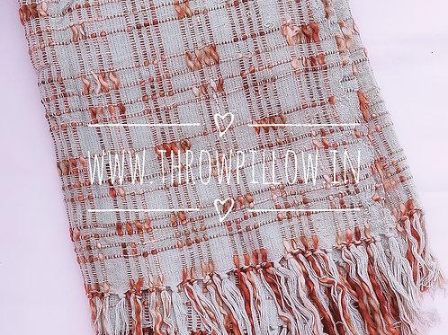 Grey Copper Chunky Knit Throw