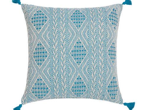 Mediterranean Blue Embroidered Pillows