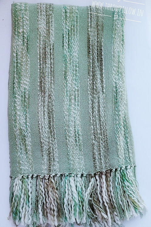 Sea Green  Basketweave Throw