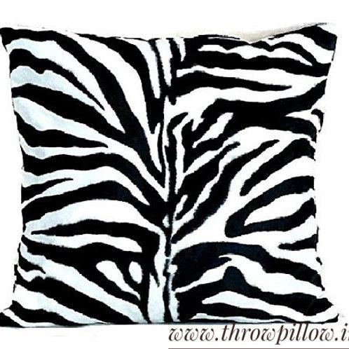 Zebra Luxe Cushion Cover