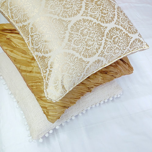 Golden Glow Combo- Set of 5 Cushion Cover