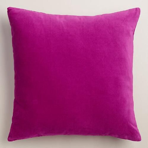 Red Violet Velvet Cushion
