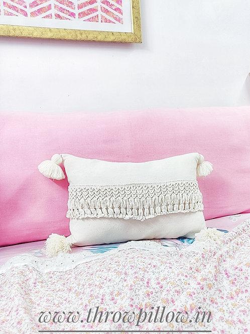 Seram Neutral Rectangular Cushion Cover