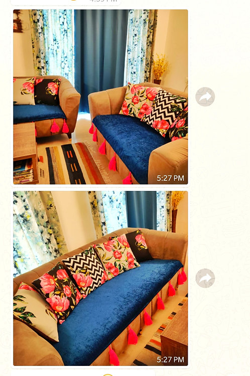 Navy Blue Couch Cover