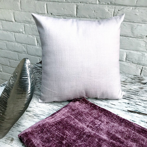 Lilac Cotton Solid Throw Pillow