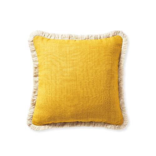 Mustard Fringe Cushion Cover