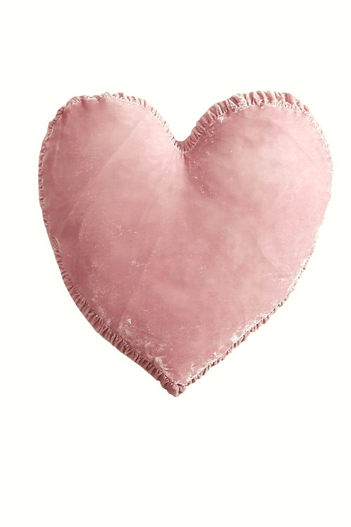 Blush Heart Cushion Cover with filler