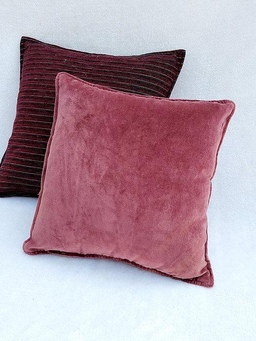 Raspberry Pantone Velvet Cushion Cover