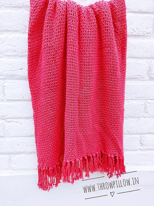 Candy Knit Throw