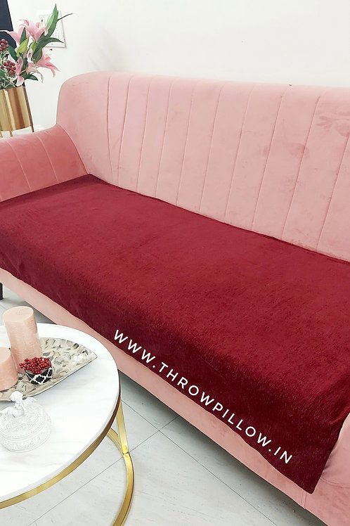 Luxe Couch Cover- Solid Maroon