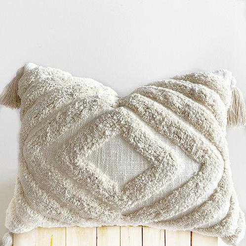 Neutral Tufted  Boho Cushion Cover