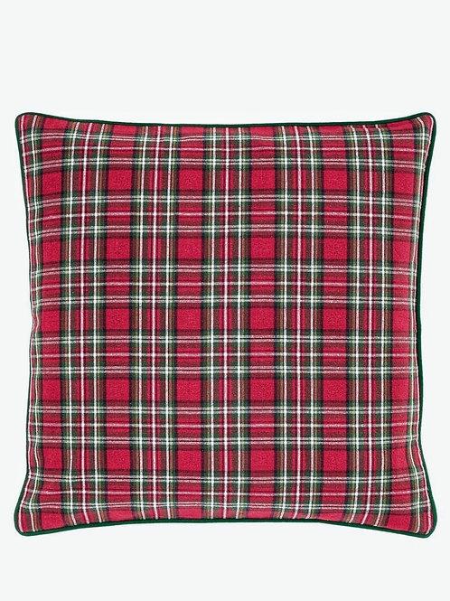 Red Chris' Plaid Cushion Cover