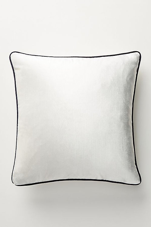 Luxe Off White Velvet Cushion Cover with trim