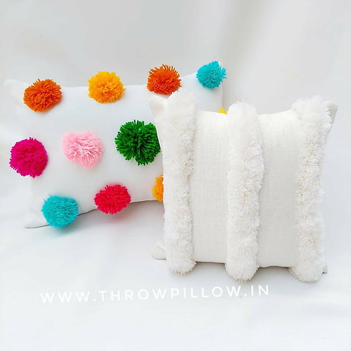 Luxe Moroccan Off White Tufted Cushion