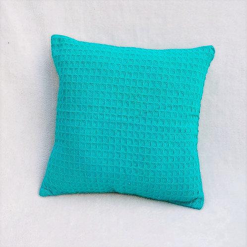 Blue Waffle Cushion cover