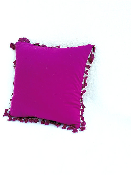 Violet All Round Small Tassels Cushion