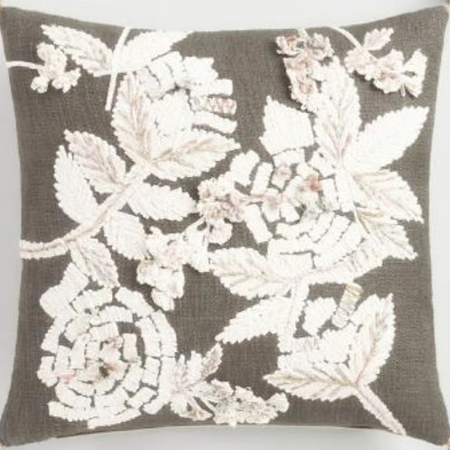 Ivory Cream Embroidery Cushion Cover