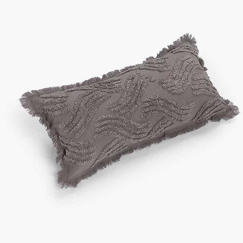 Grey Tufted Rectangular Cushion