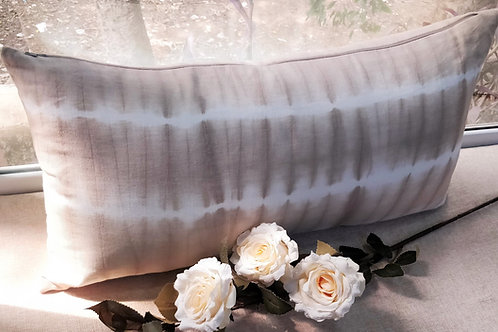 Tan Shibori Throw Pillow