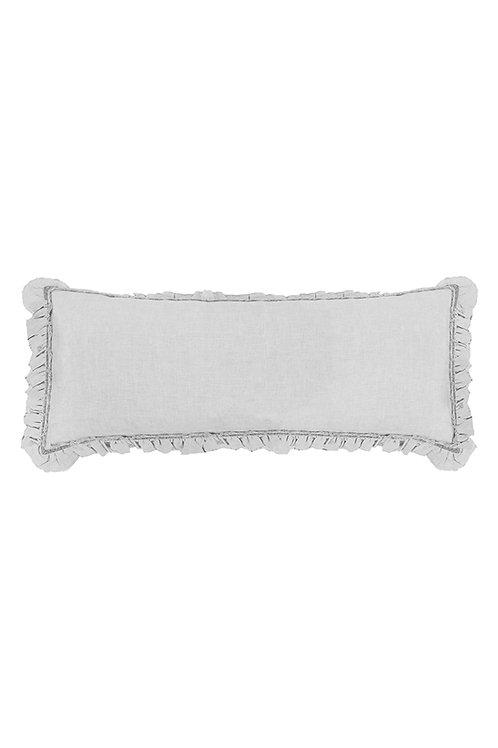 Light Grey Frill Rectangular Cushion