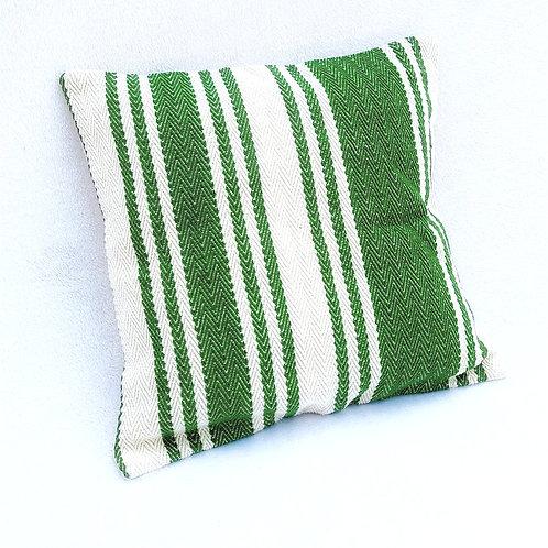 Green Striped Cushion Cover