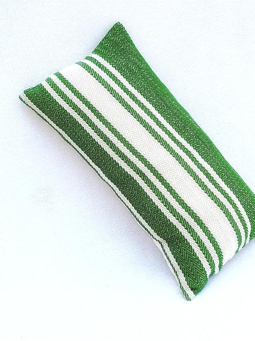 Green Stripes Rectangular Cushion