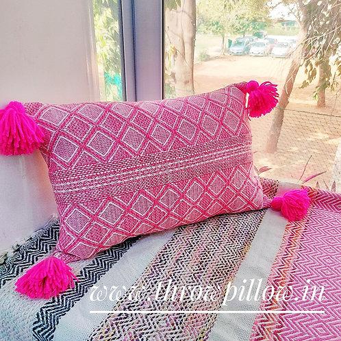 Fuchsia Pink Rectangular Cushion