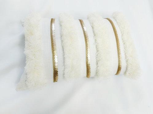 Pearl white Tufted Cushion