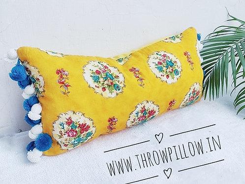 Tuscany Yellow Lumbar with bud tasssls