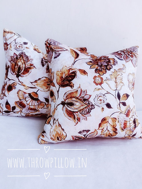 Luxe Floral Velvet Cushion Cover