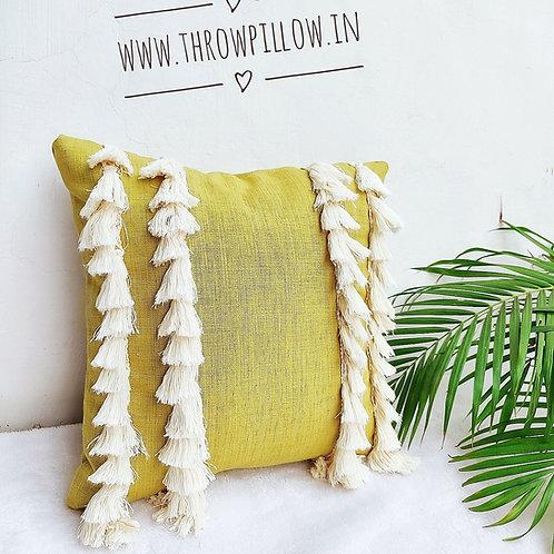 Tassel Queen- Sap Green Cushion Cover